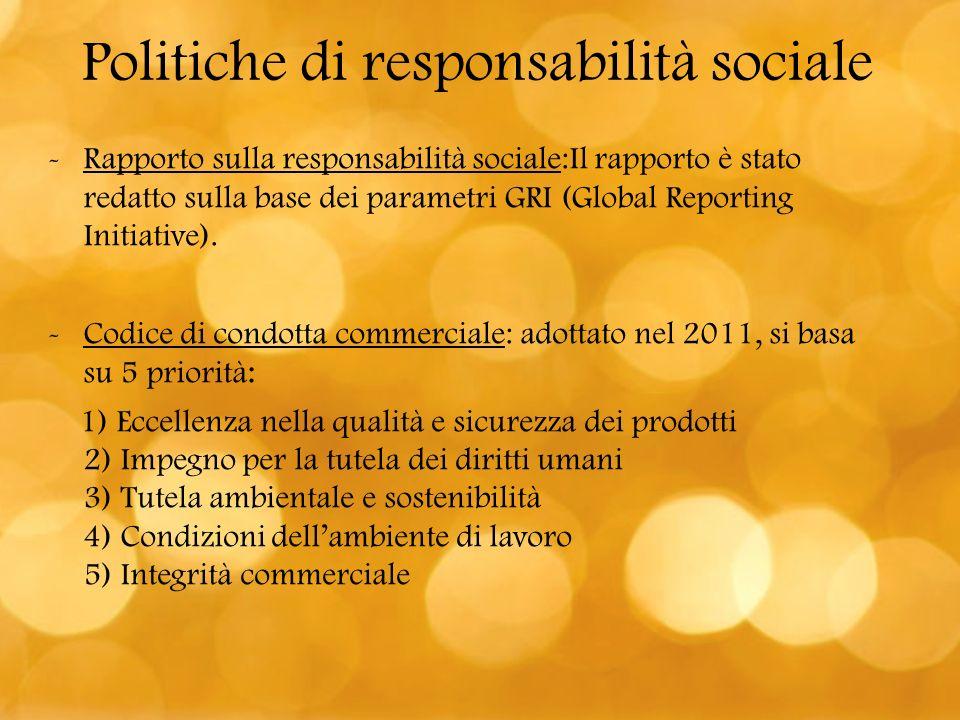 Politiche di responsabilità sociale