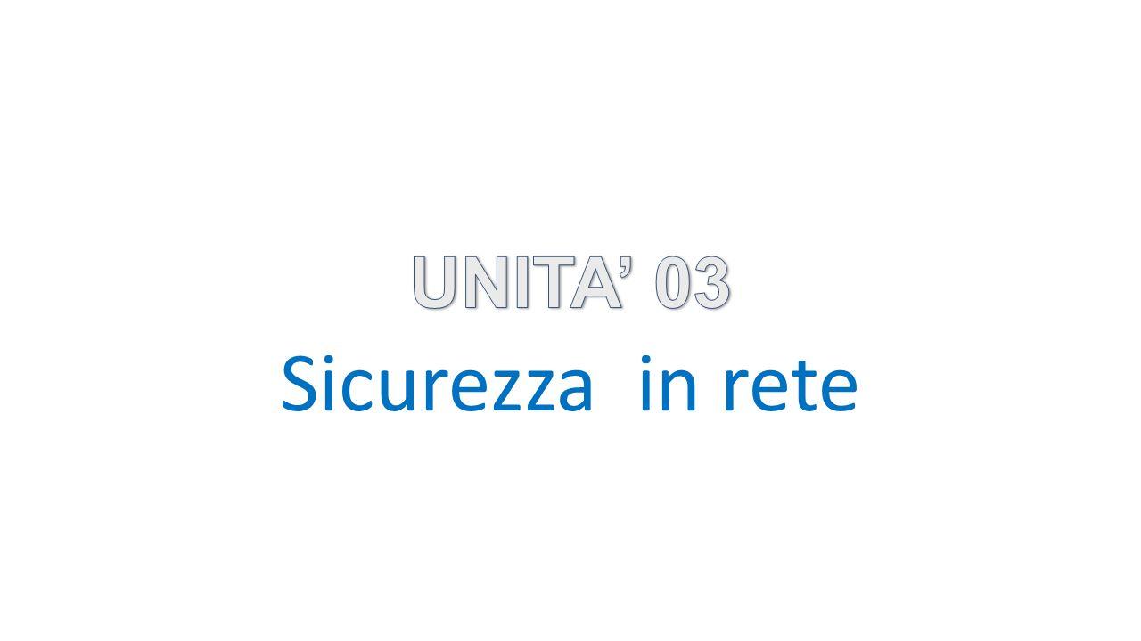 UNITA' 03 Sicurezza in rete