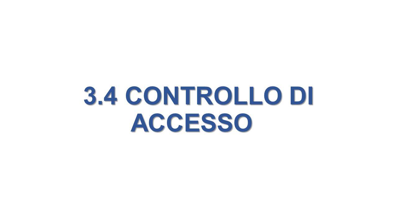3.4 CONTROLLO DI ACCESSO