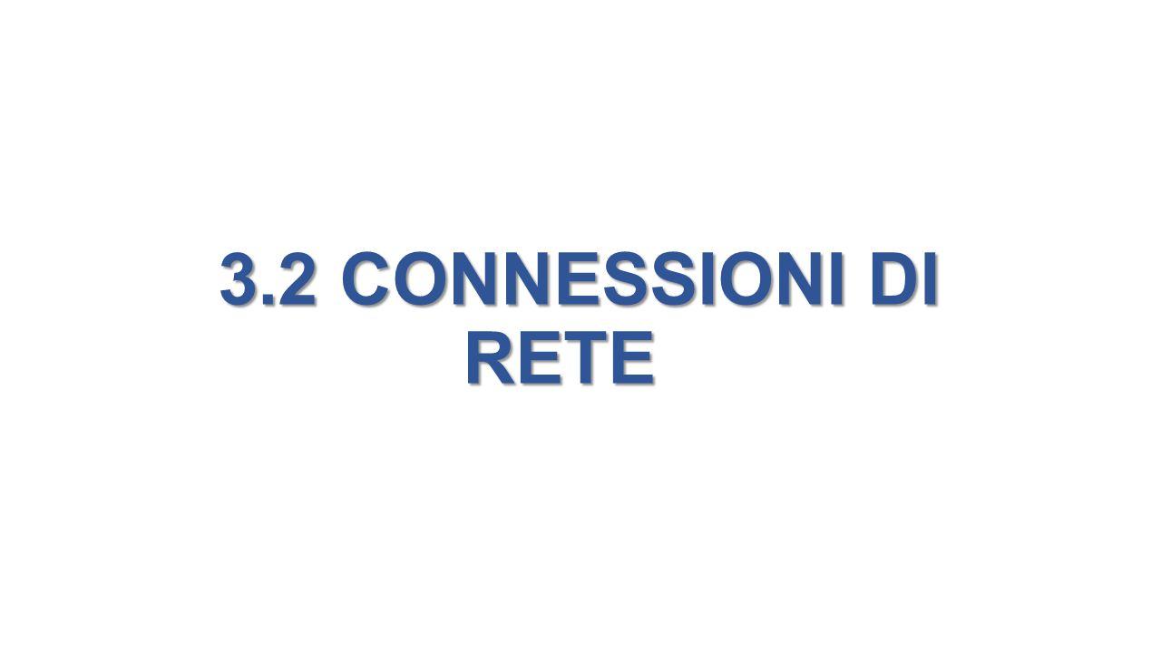 3.2 CONNESSIONI DI RETE