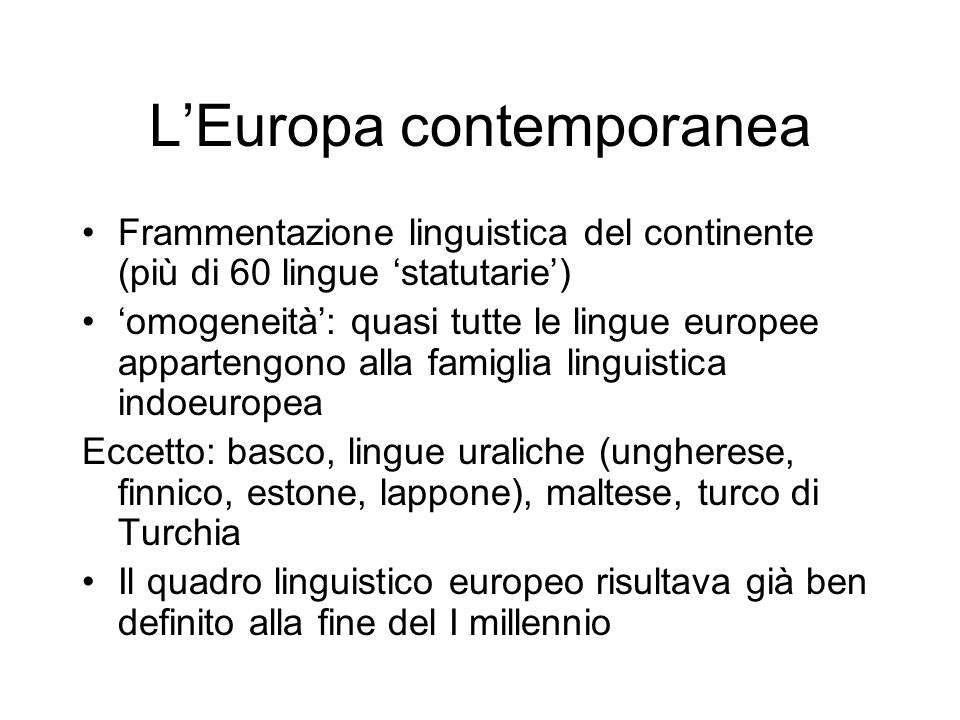 L'Europa contemporanea