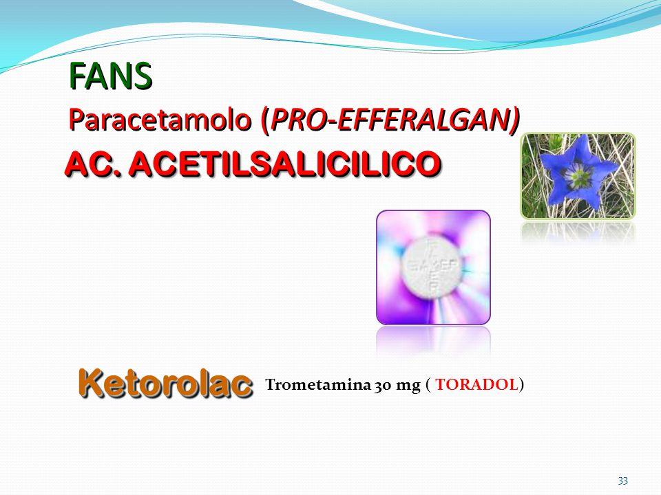 FANS Paracetamolo (PRO-EFFERALGAN)