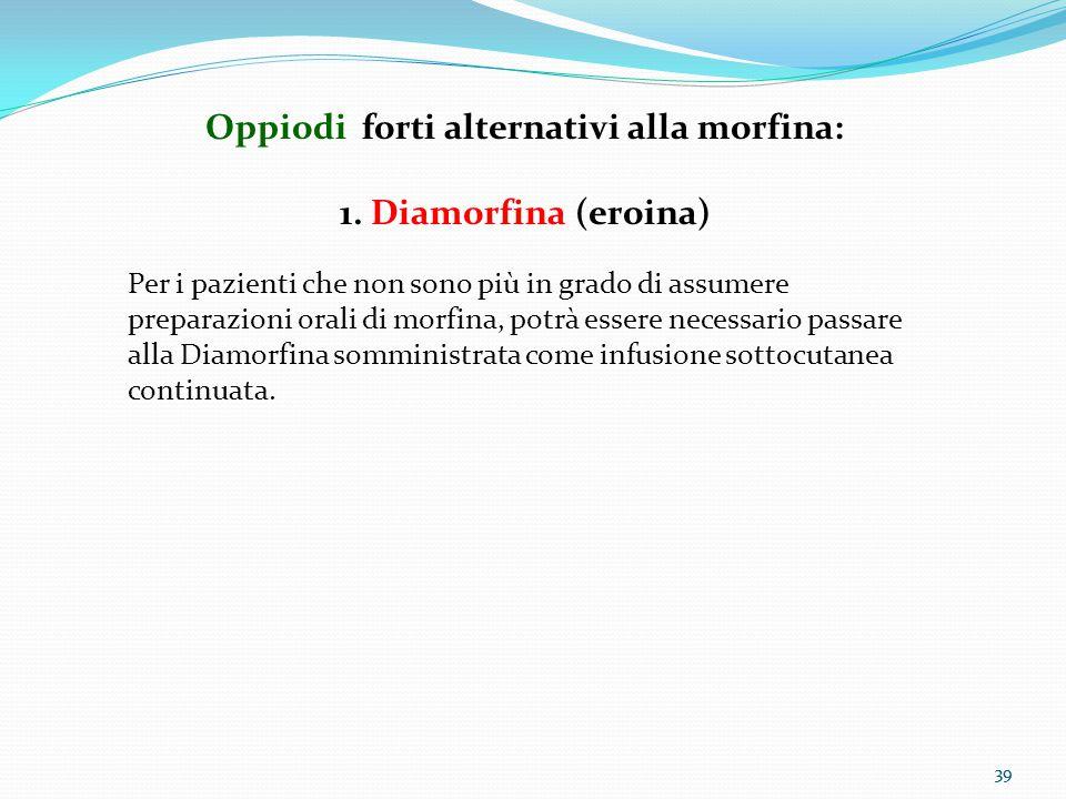 Oppiodi forti alternativi alla morfina: