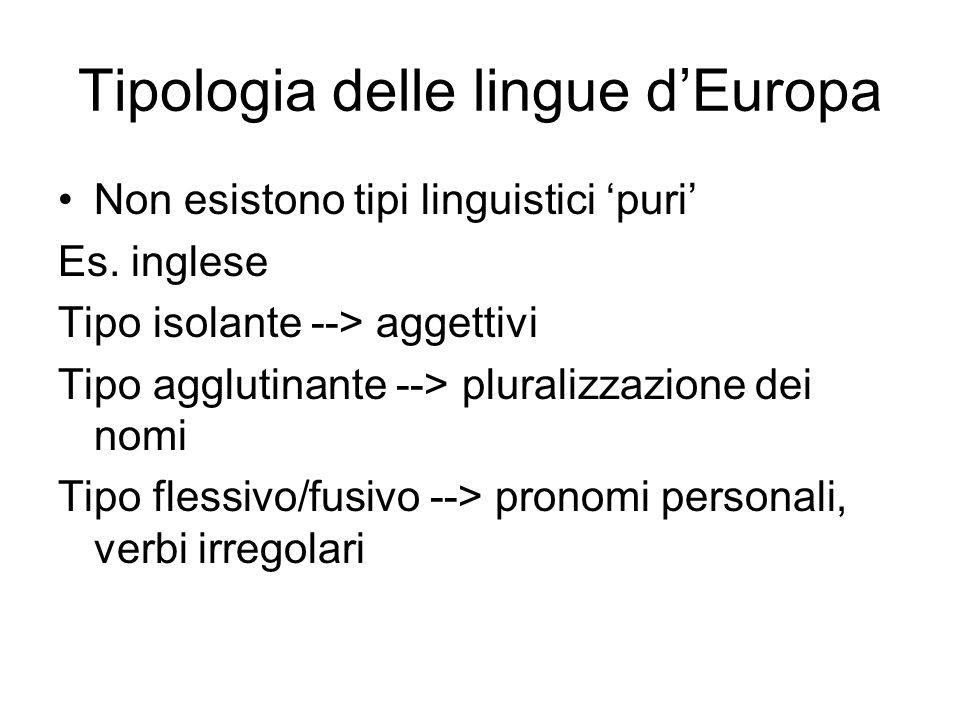 Tipologia delle lingue d'Europa