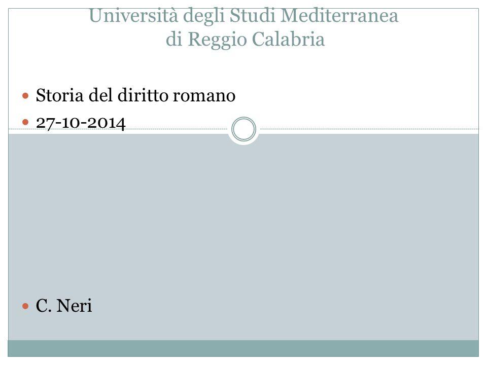 Università degli Studi Mediterranea di Reggio Calabria