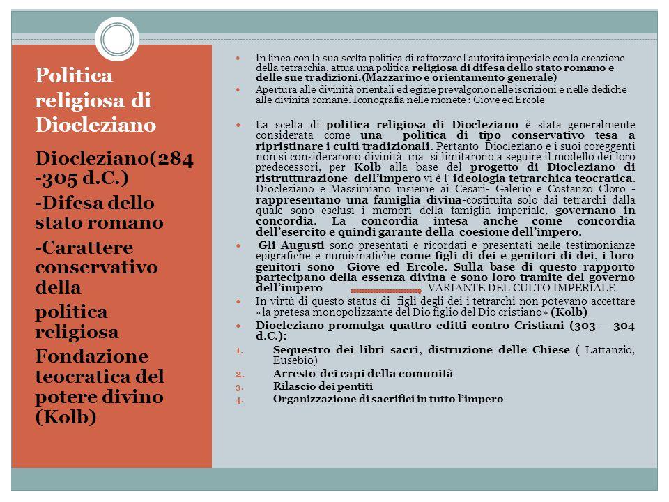 Politica religiosa di Diocleziano
