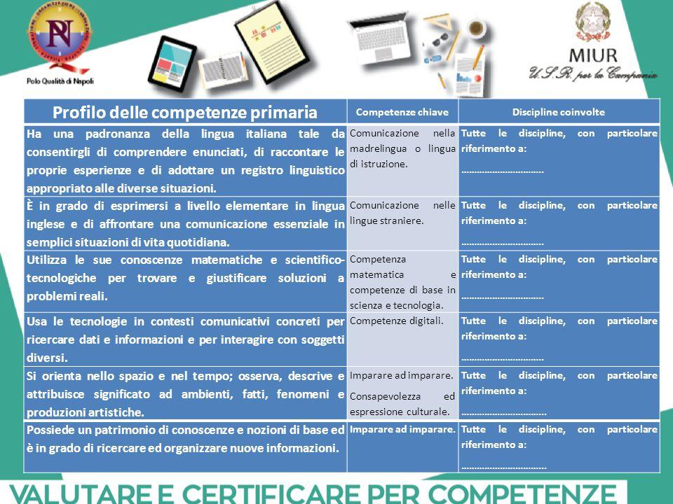 Profilo delle competenze primaria