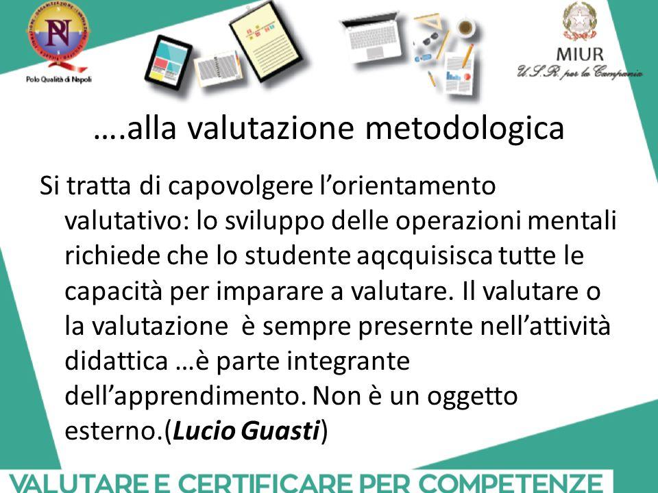 ….alla valutazione metodologica