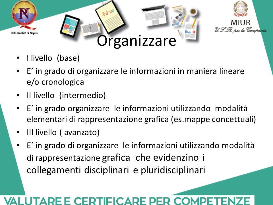 Organizzare I livello (base)