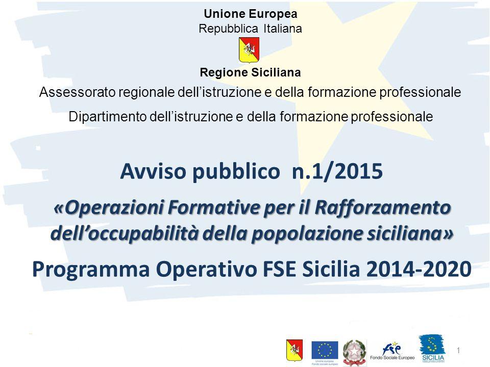 Programma Operativo FSE Sicilia 2014-2020