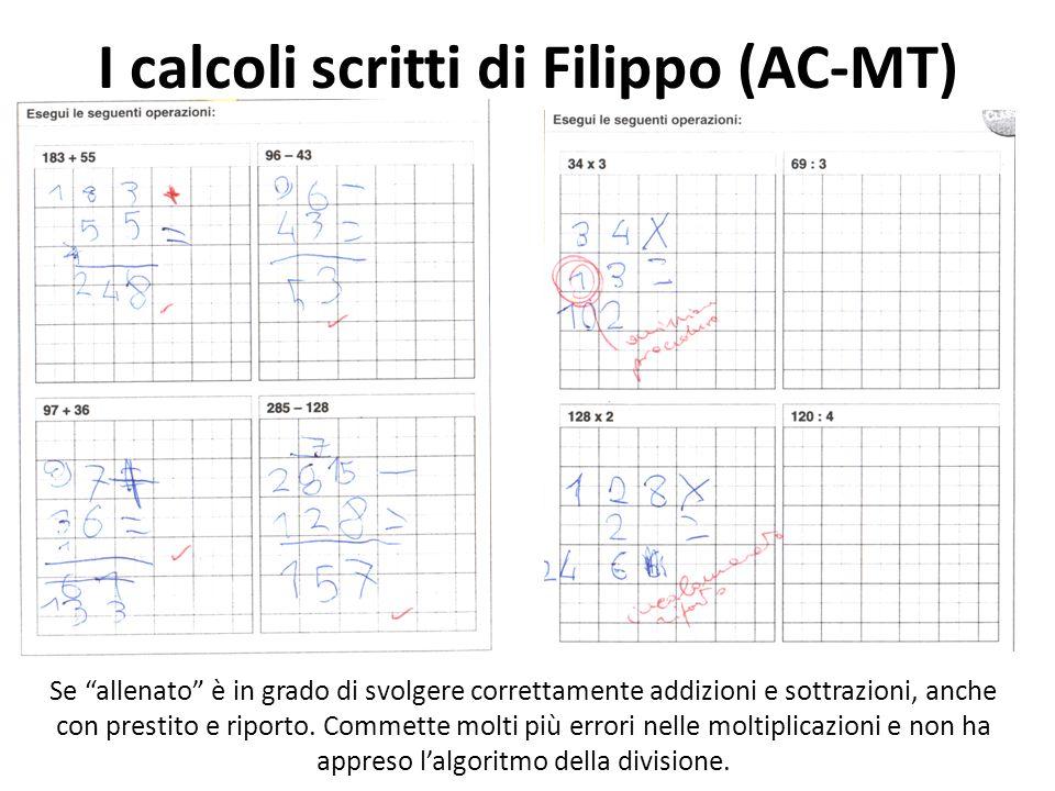 I calcoli scritti di Filippo (AC-MT)
