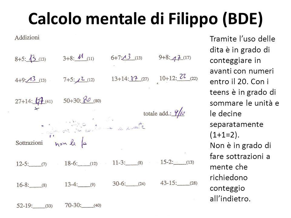 Calcolo mentale di Filippo (BDE)