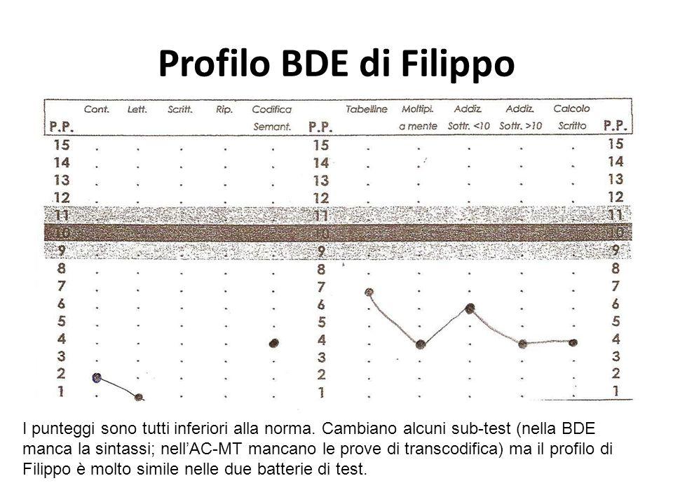 Profilo BDE di Filippo