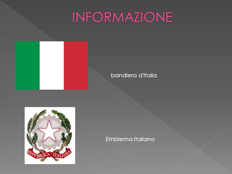 INFORMAZIONE bandiera d Italia Emblema italiano