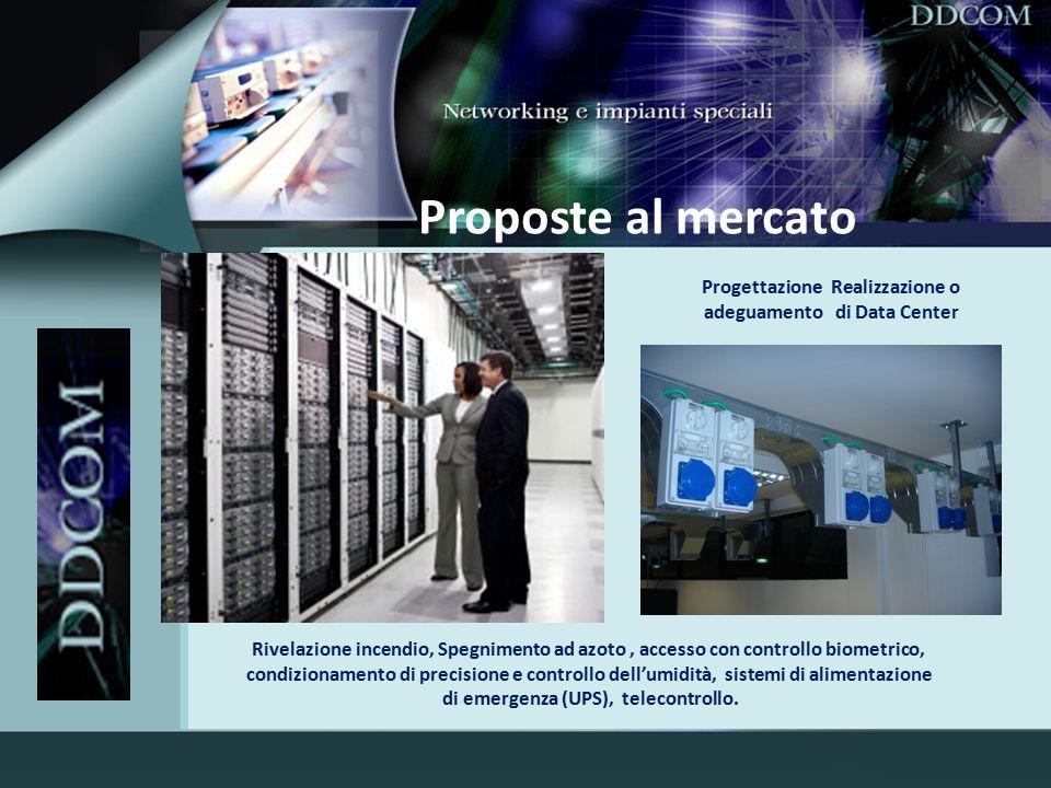 Proposte al mercato Progettazione Realizzazione o adeguamento di Data Center.
