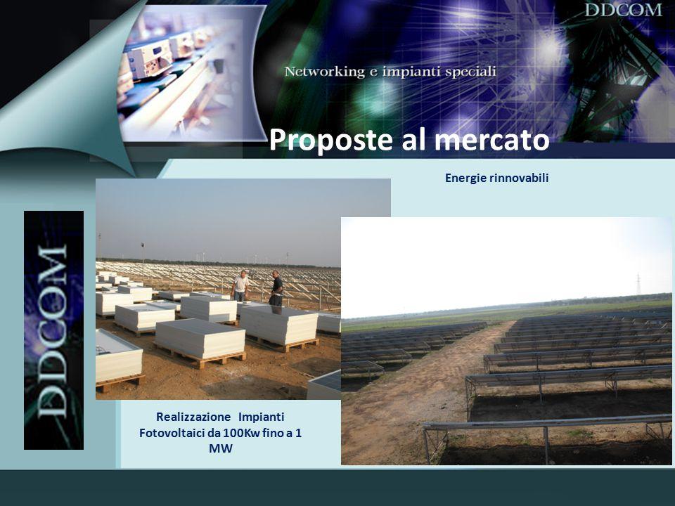 Realizzazione Impianti Fotovoltaici da 100Kw fino a 1 MW