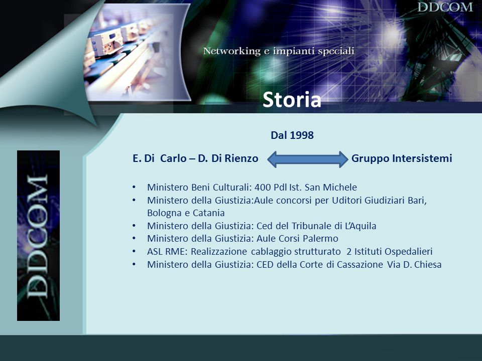 E. Di Carlo – D. Di Rienzo Gruppo Intersistemi