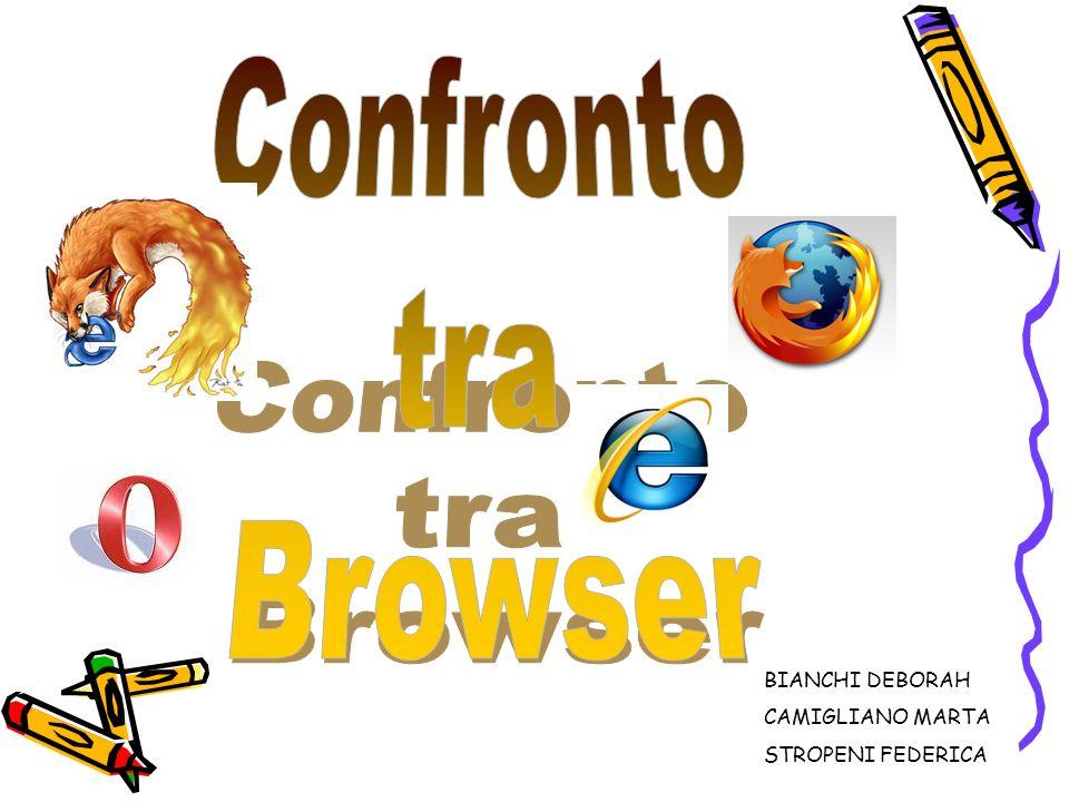 Confronto tra Browser BIANCHI DEBORAH CAMIGLIANO MARTA