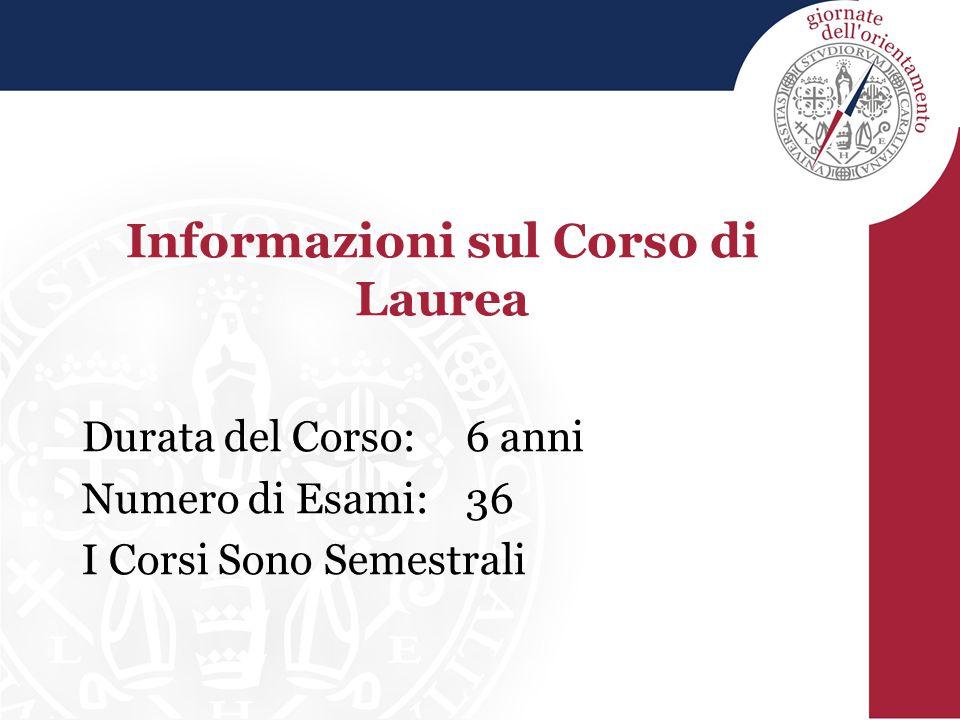 Informazioni sul Corso di Laurea