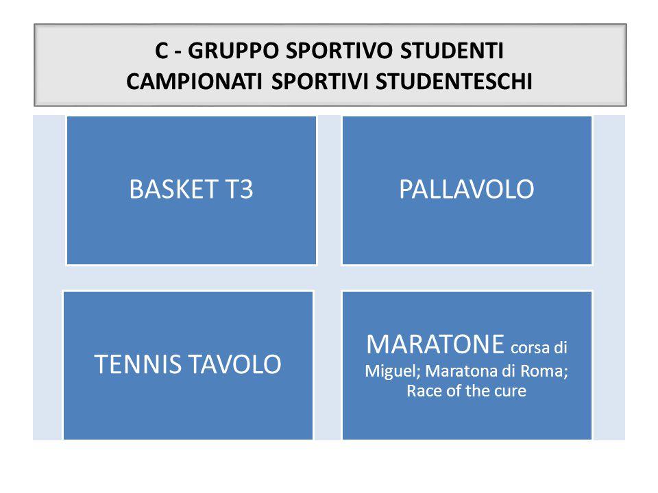 C - GRUPPO SPORTIVO STUDENTI CAMPIONATI SPORTIVI STUDENTESCHI