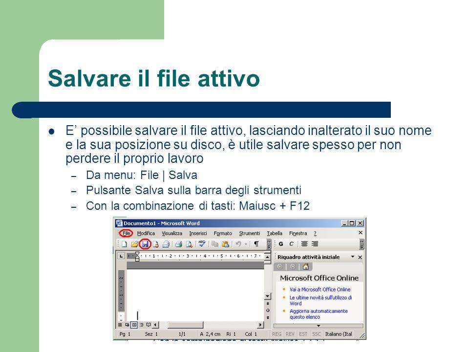 Salvare il file attivo