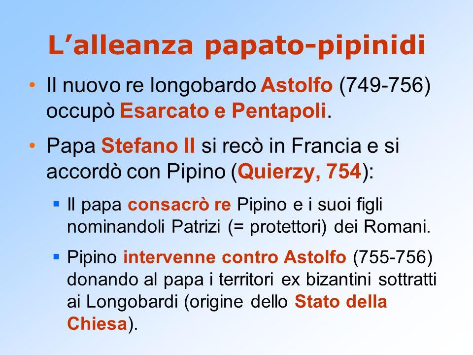 L'alleanza papato-pipinidi
