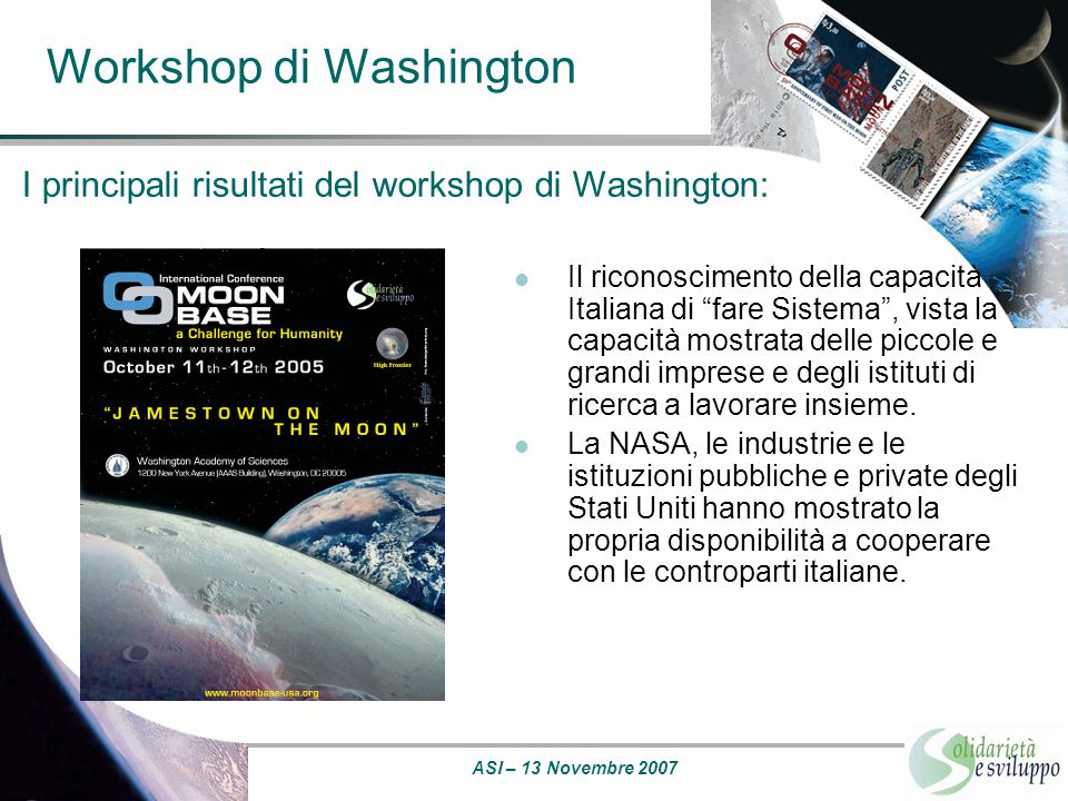 Workshop di Washington