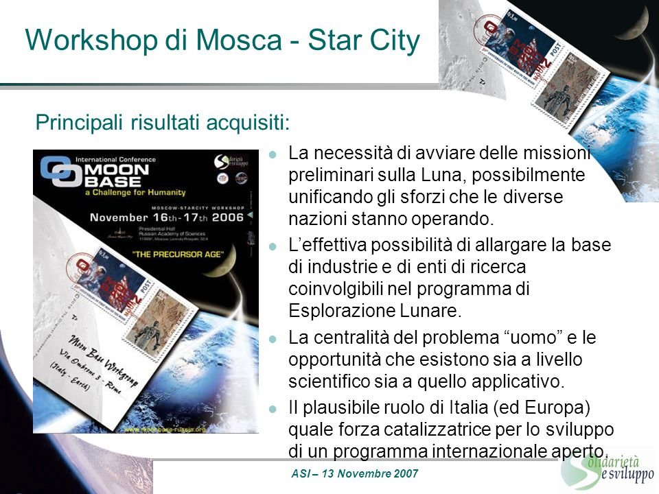Workshop di Mosca - Star City