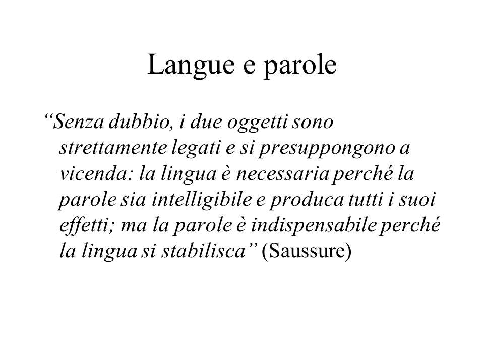 Langue e parole