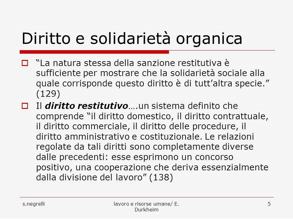 Diritto e solidarietà organica