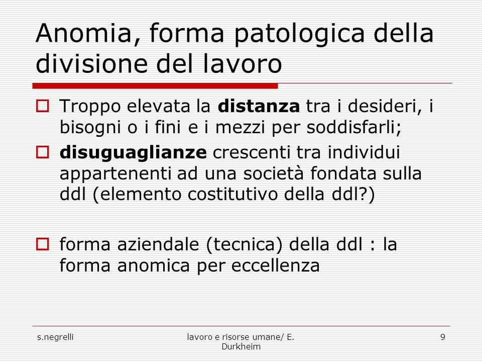 Anomia, forma patologica della divisione del lavoro