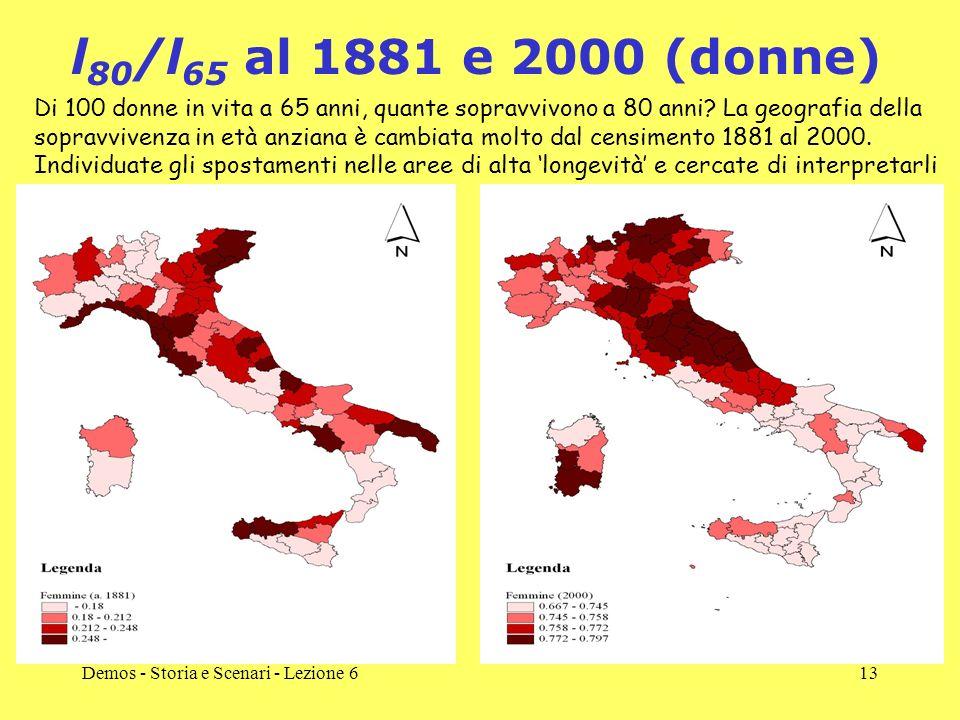 l80/l65 al 1881 e 2000 (donne)