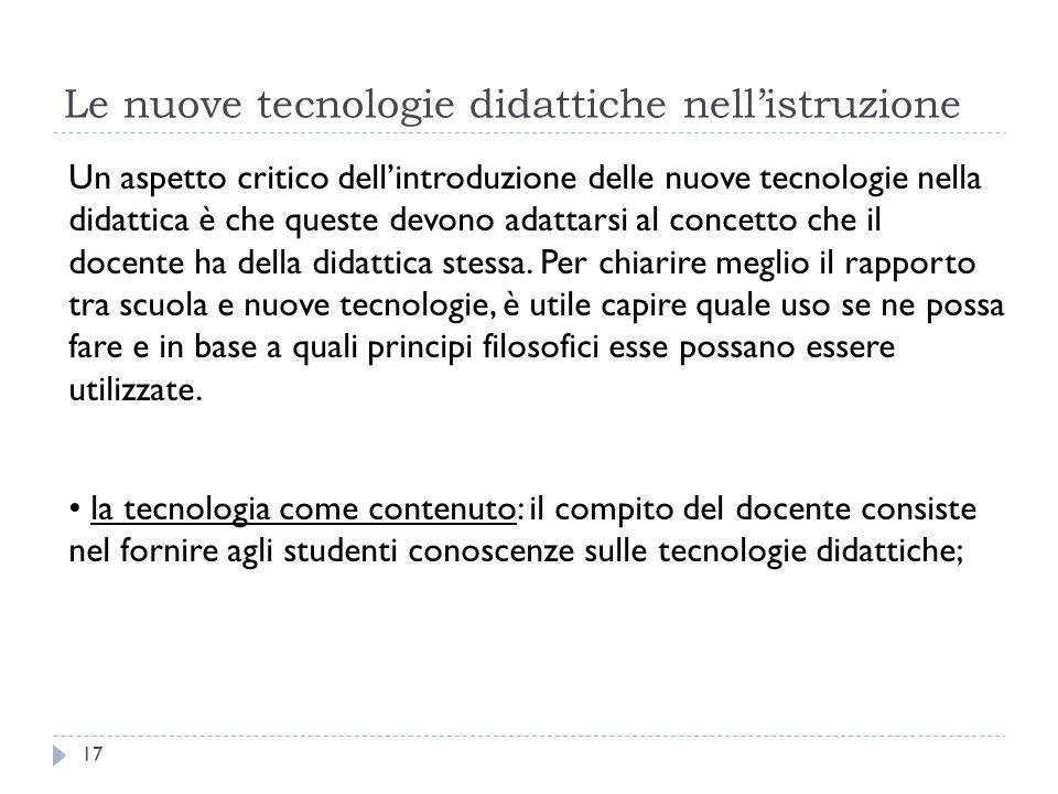 Le nuove tecnologie didattiche nell'istruzione