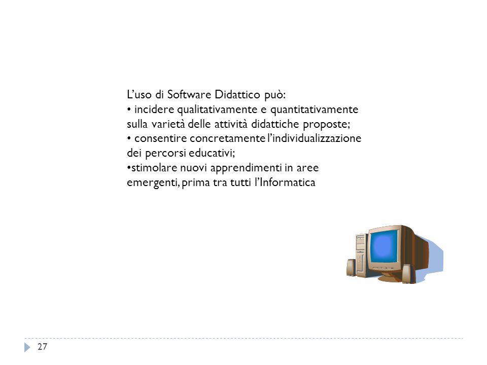 L'uso di Software Didattico può: