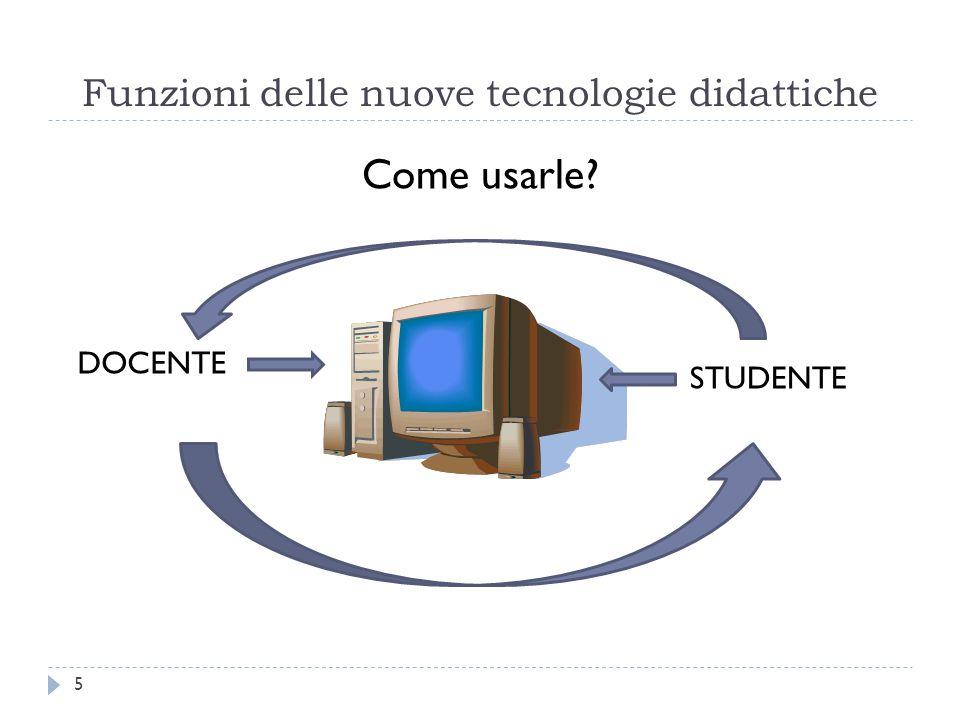 Funzioni delle nuove tecnologie didattiche