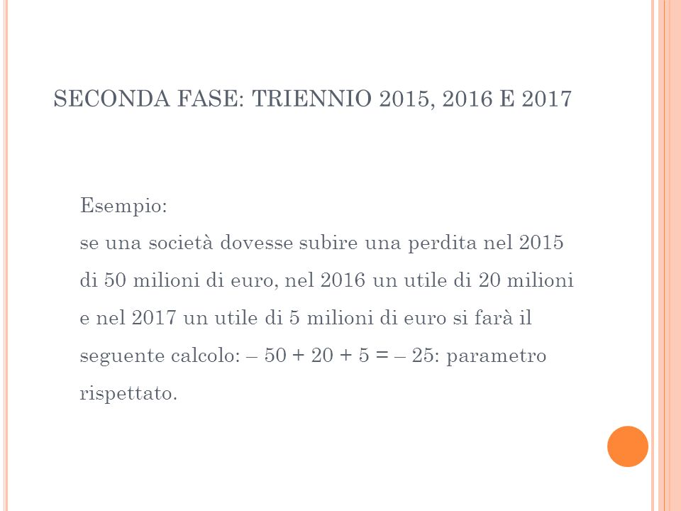 SECONDA FASE: TRIENNIO 2015, 2016 E 2017