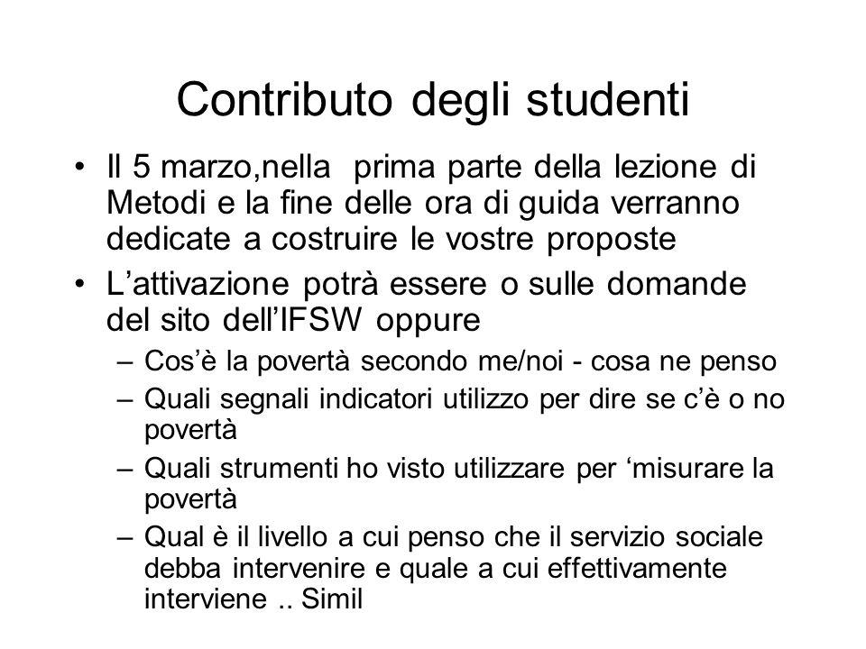 Contributo degli studenti
