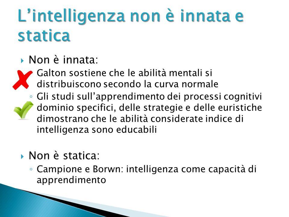 L'intelligenza non è innata e statica