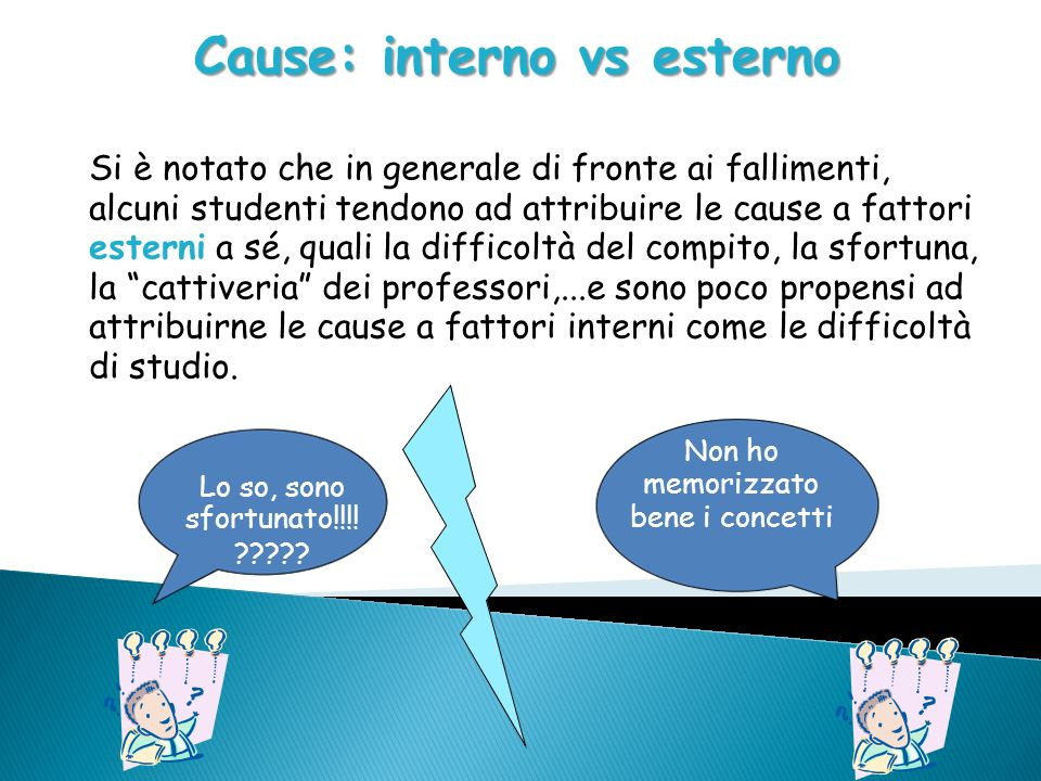 Cause: interno vs esterno