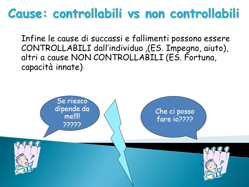 Cause: controllabili vs non controllabili
