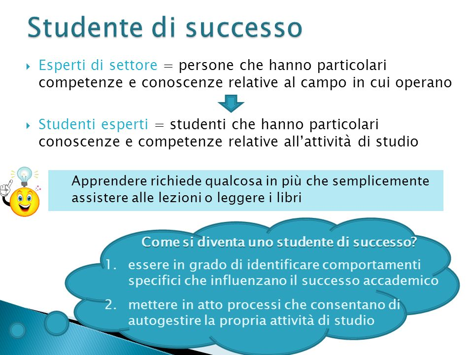 Come si diventa uno studente di successo