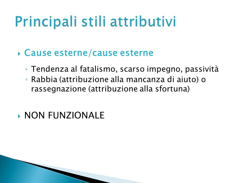 Principali stili attributivi