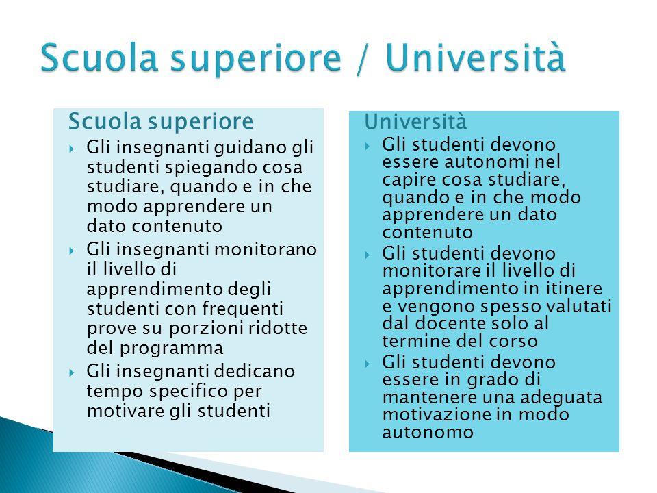 Scuola superiore / Università
