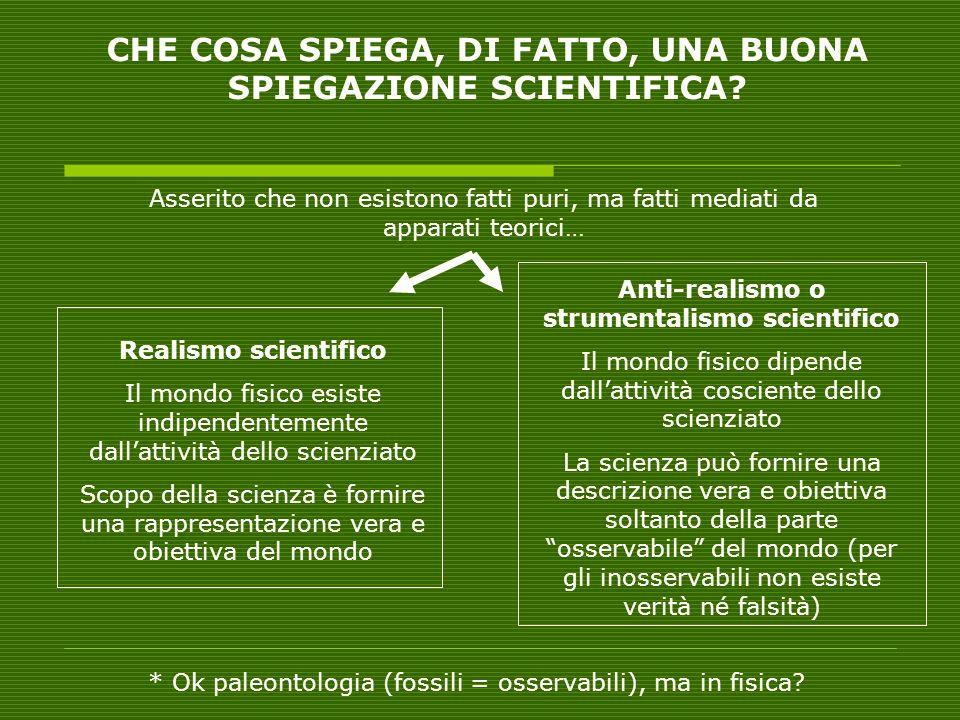 CHE COSA SPIEGA, DI FATTO, UNA BUONA SPIEGAZIONE SCIENTIFICA
