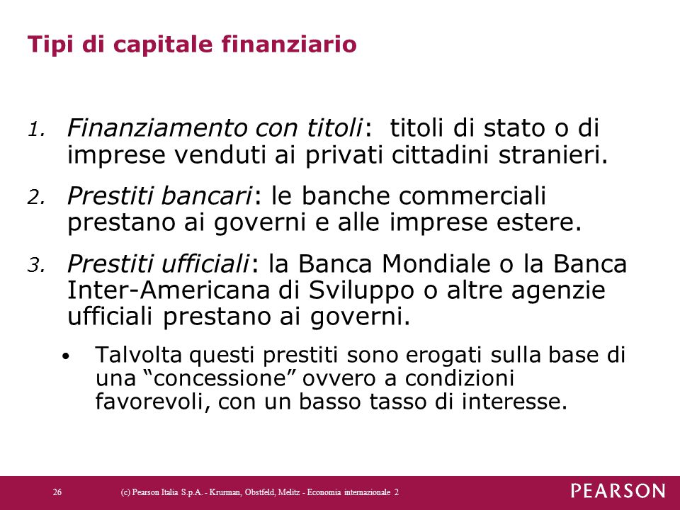 Tipi di capitale finanziario