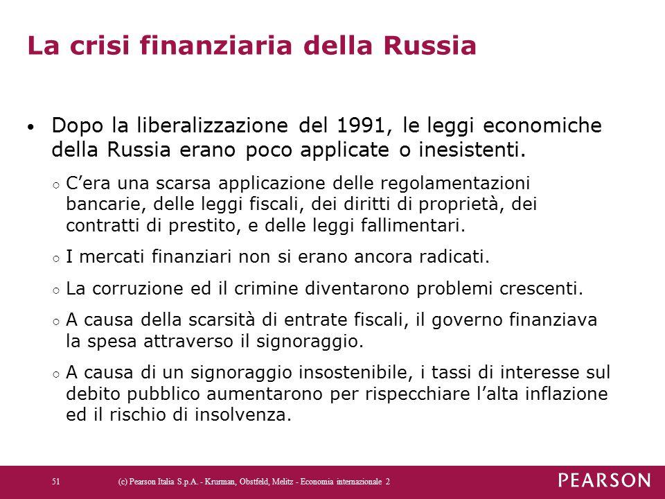 La crisi finanziaria della Russia