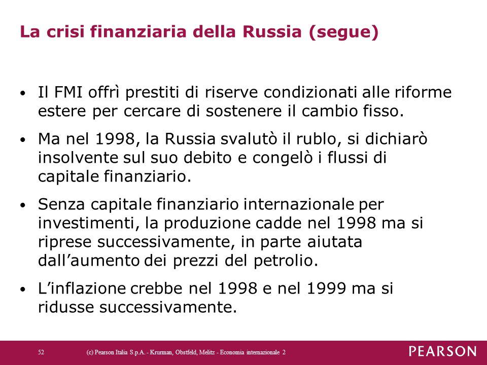 La crisi finanziaria della Russia (segue)