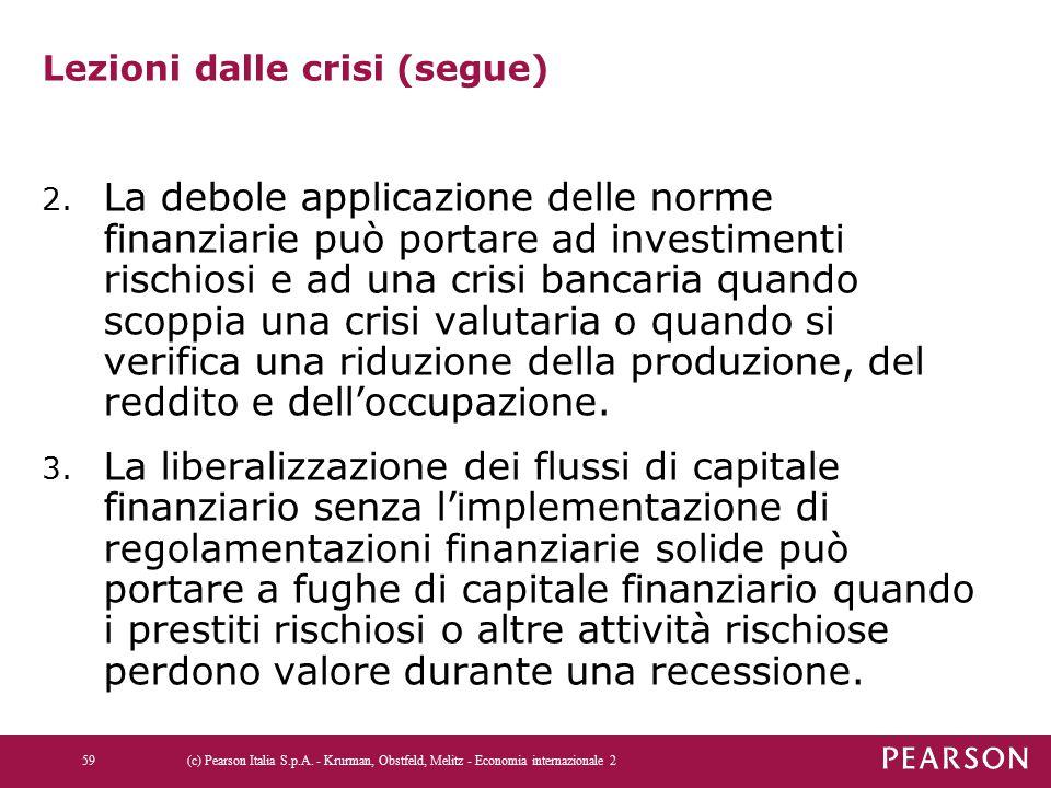 Lezioni dalle crisi (segue)