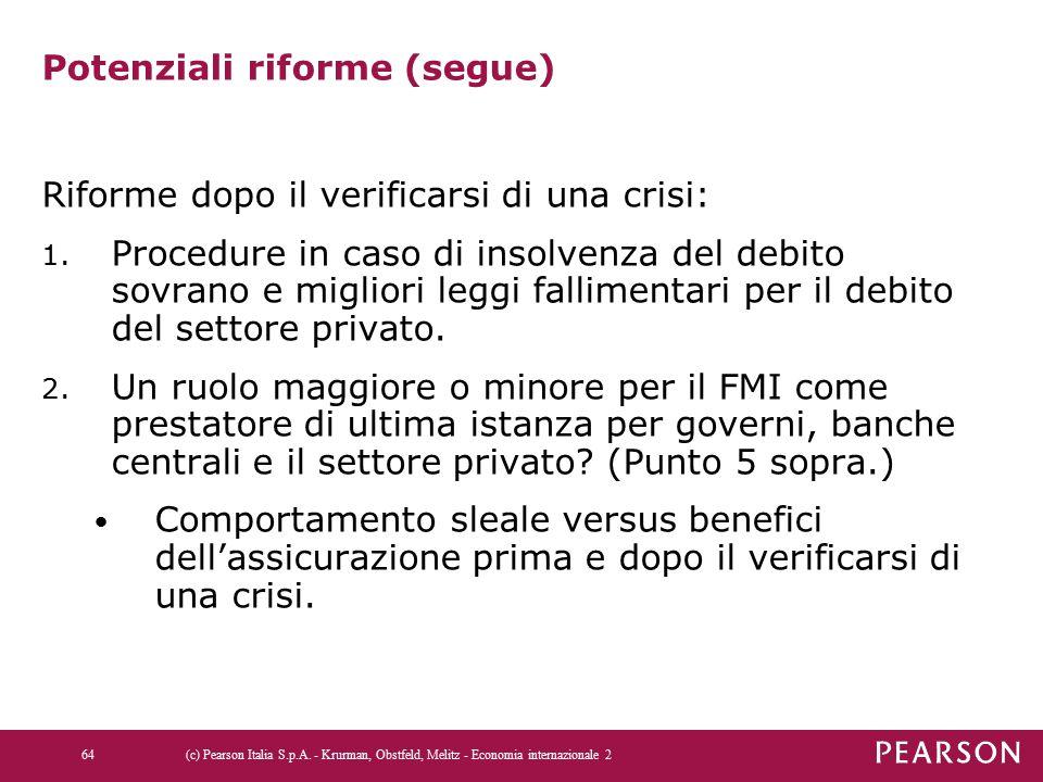 Potenziali riforme (segue)