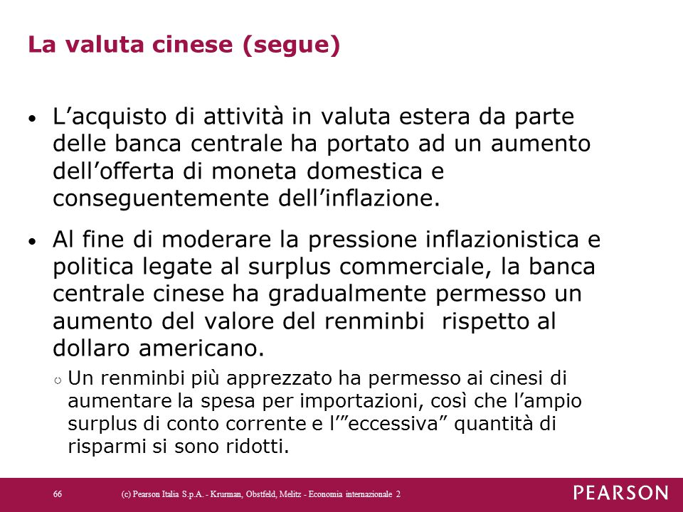 La valuta cinese (segue)